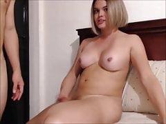 Chubby blond ts fucking her young boyfriend