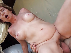 76 year old mom fucked by stepson outdoors