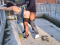 Dutch wife goes outside with BBC