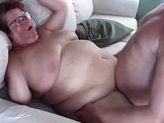 Mature with a fat belly gets fucked and a big belly cumshot