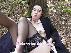 Public Agent, Russian Student Picked Up and Almost Creampied