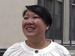 Celine, hot French Asian bbw gets fucked on camera.